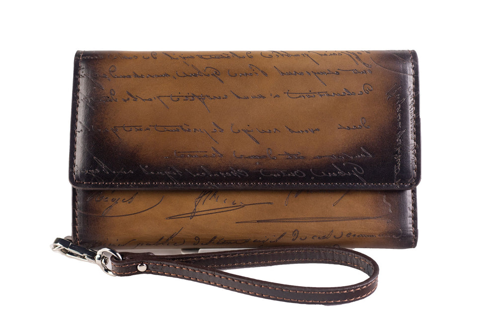 Bosphorus Leather Artos - Scripto Patina Java Brown Wallet