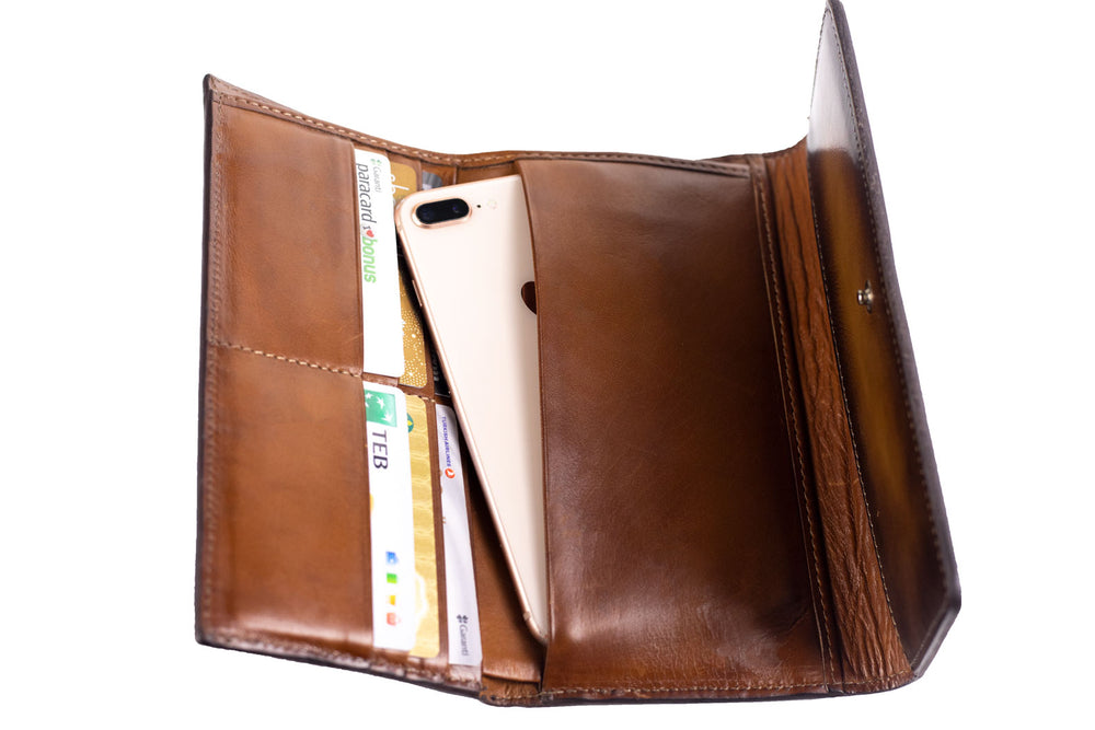 Leather Artos - Patina Brown Wallet