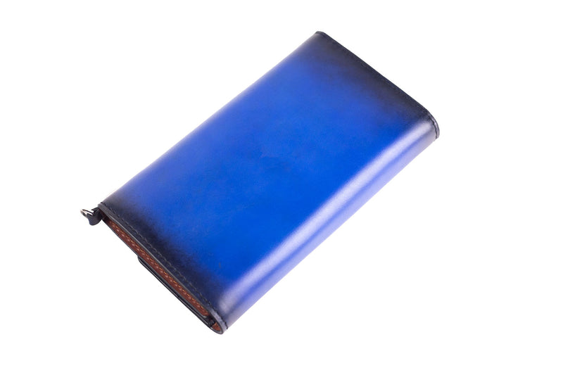 Bosphorus Leather Artos - Patina Blue Wallet
