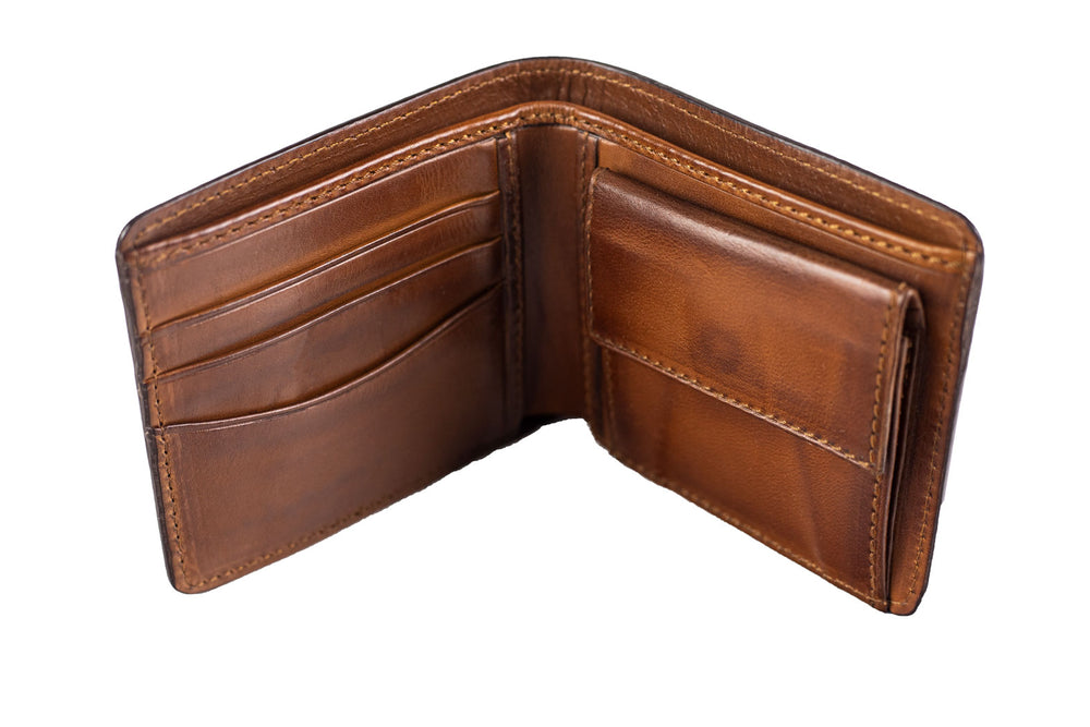 Leather Scripto Patina Java Brown Wallet Medium