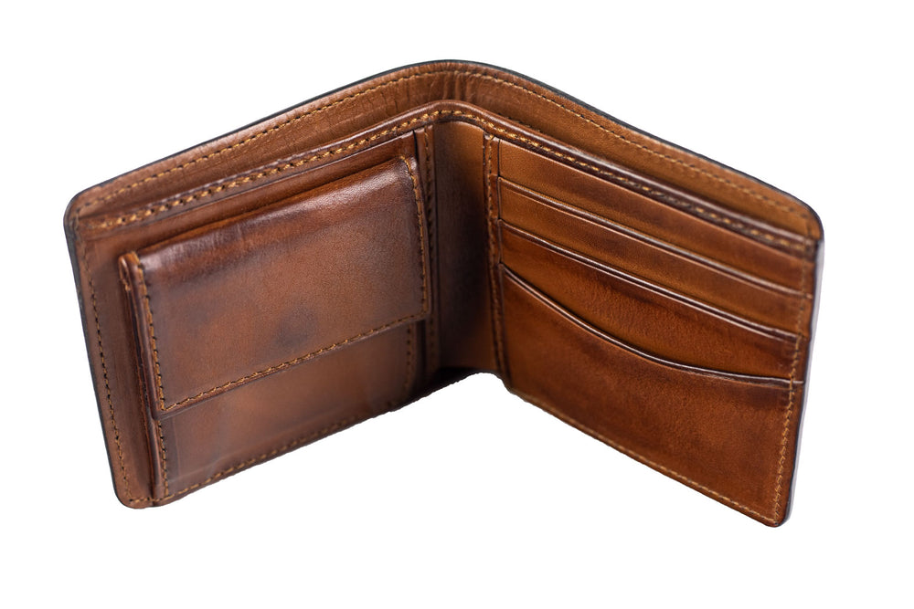 Leather Scripto Patina Grey Wallet Medium