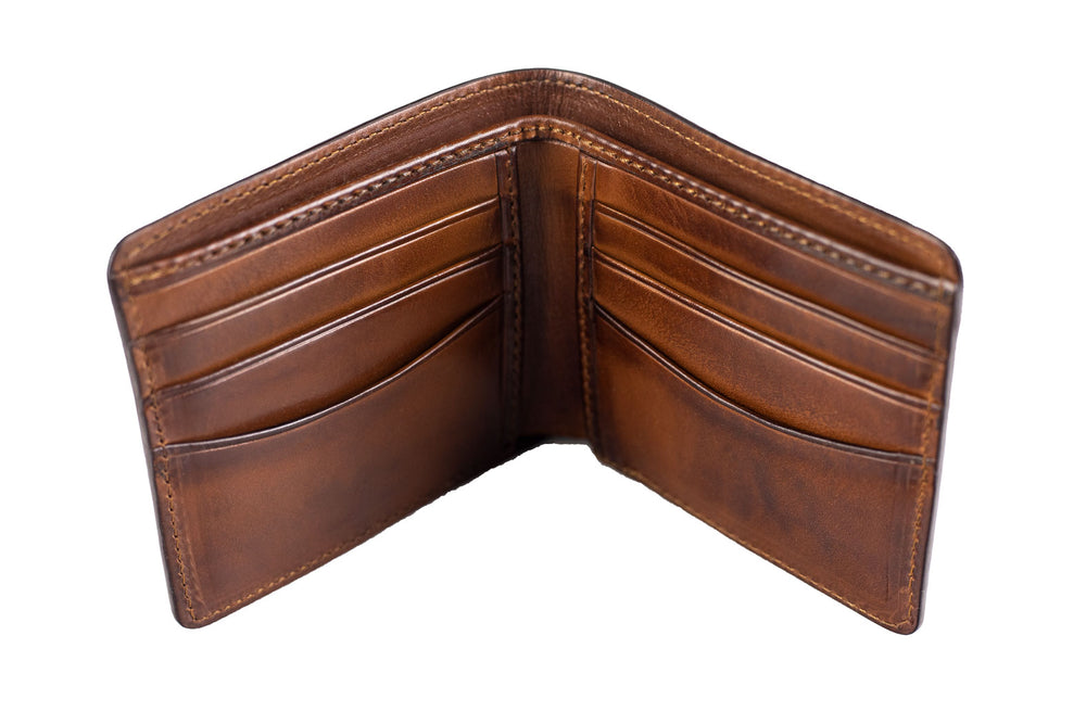 Leather Scripto Patina Light Tan Wallet  -Medium