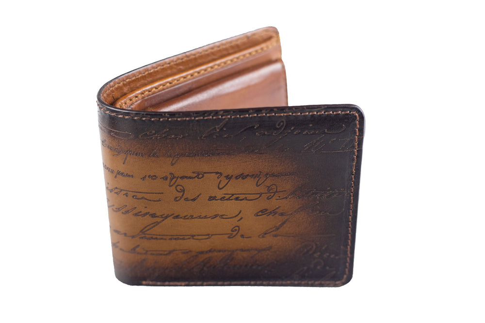 Bosphorus Leather Scripto Patina Java Brown Wallet Medium