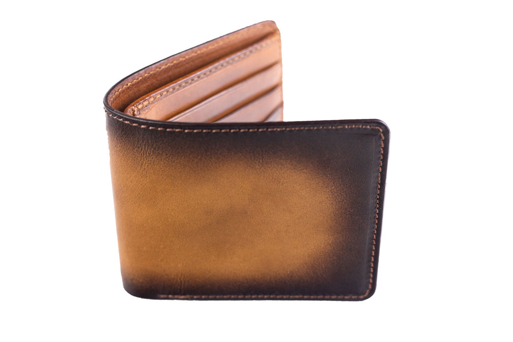 Bosphorus Leather Patina Light Brown Wallet Medium