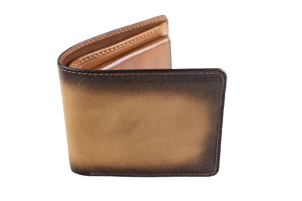 Bosphorus Leather Patina Sand Wallet Medium