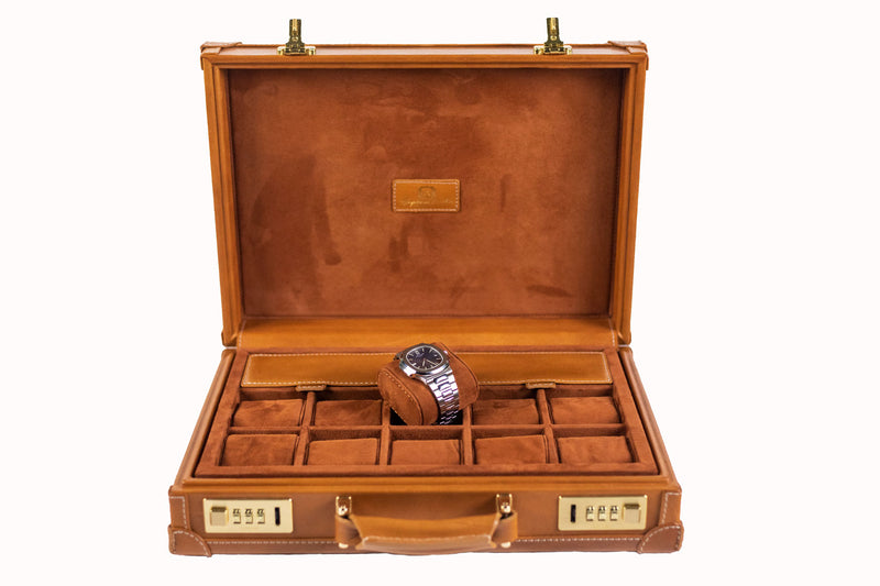 Watch Collector Case Combination Lock - Montana03 for 10 Watches with Double Pockets - In Stock !