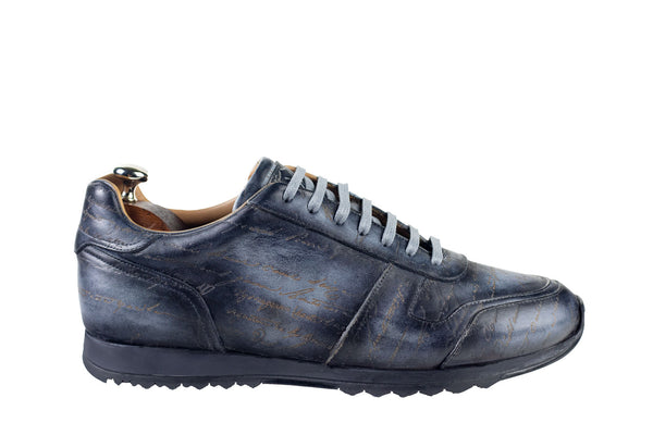 Bosphorus Leather Minorka Sneakers - Patina Scripto Grey