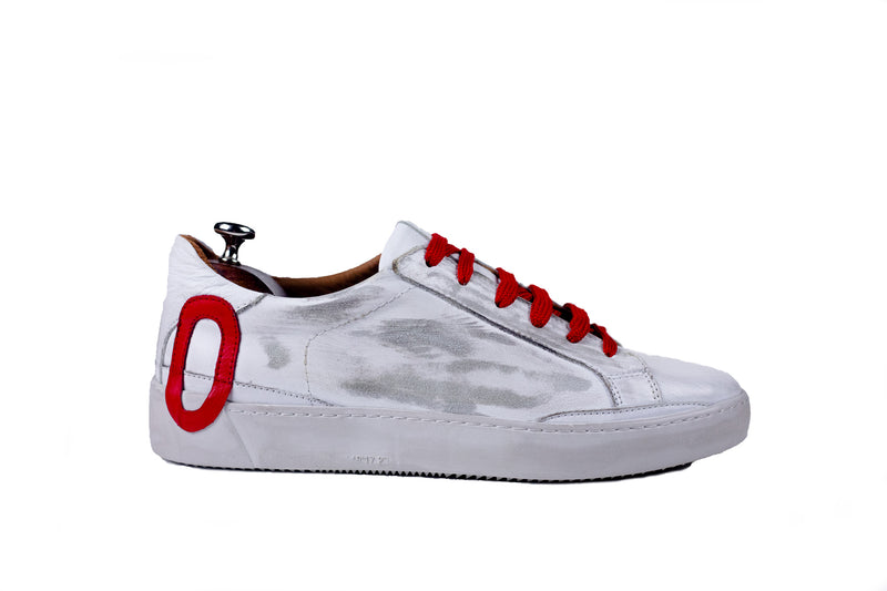 Bosphorus Leather Ohio Sneaker - Dirty Red
