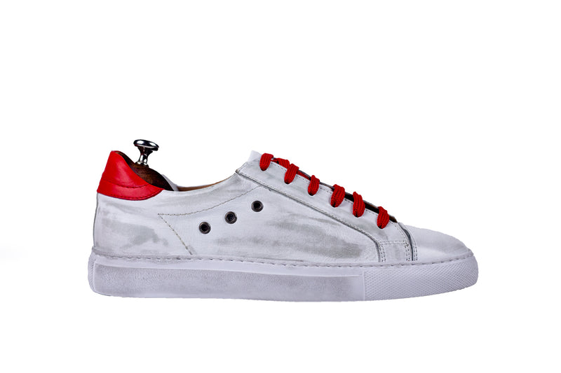 Bosphorus Leather Mykonos Sneakers - Dirty Red
