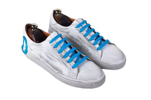 Bosphorus Leather Ohio Sneakers - Dirty Light Blue
