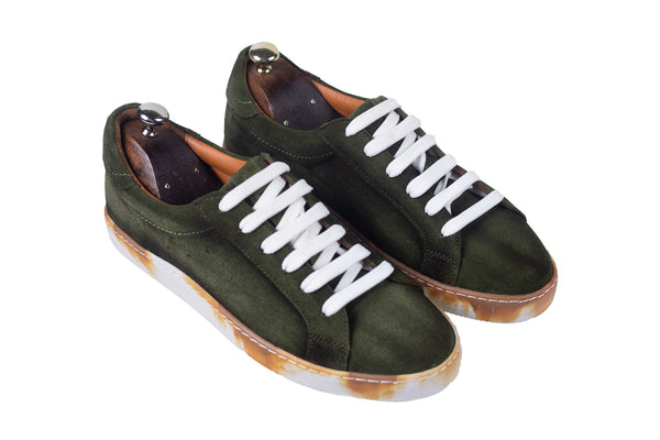 Bosphorus Leather Canga Sneakers - Dirty Khaki Green Suede
