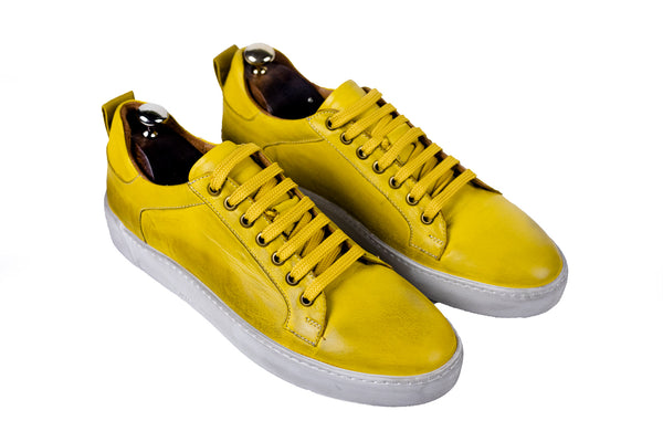 Bosphorus Leather Pena Sneakers - Dirty Mustand Color