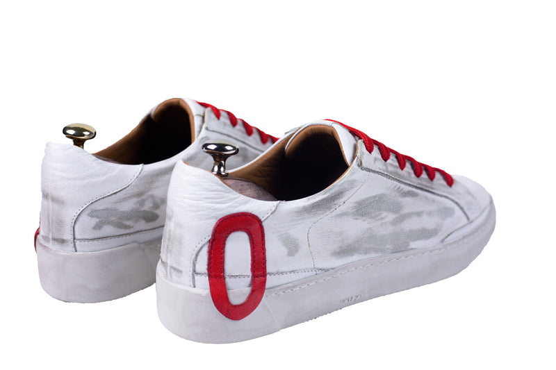 Bosphorus Leather Ohio Sneakers - Dirty Red - In Stock !