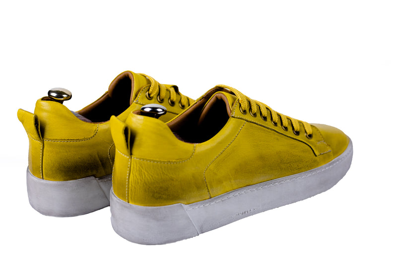 Bosphorus Leather Pena Sneaker - Dirty Mustand Color