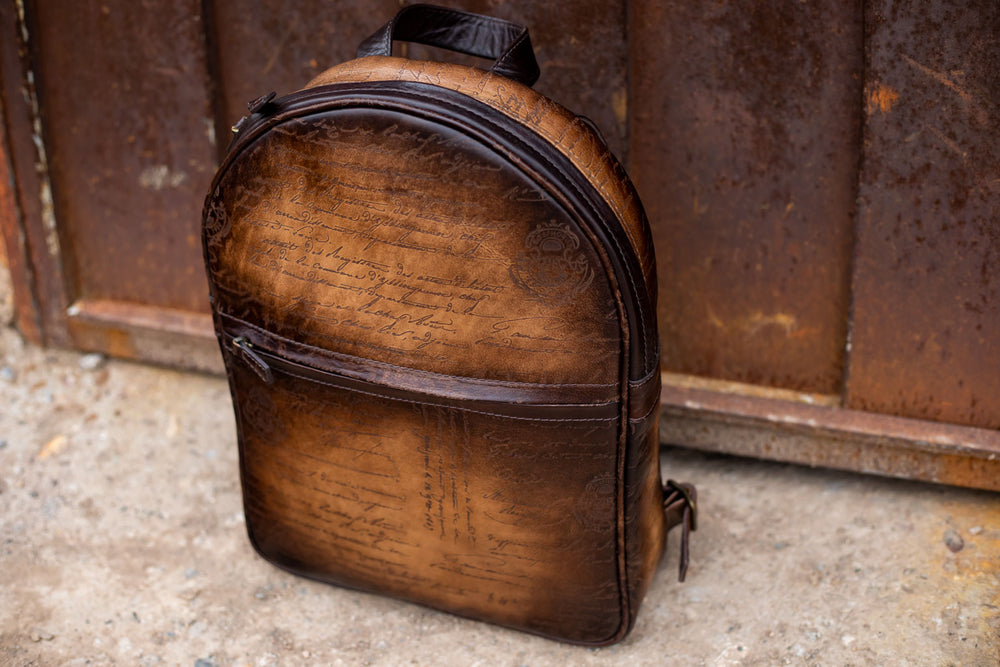 Bosphorus Leather Backpack  - Scripto Light Tan
