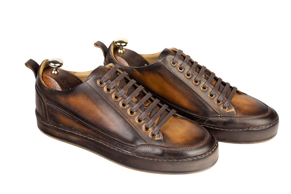 Bosphorus Leather Salda Sneakers - Patina Brown