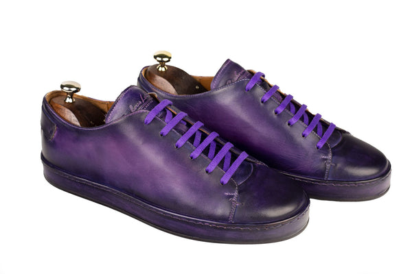 Bosphorus Leather Marrakech Sneakers - Patina Sole Purple