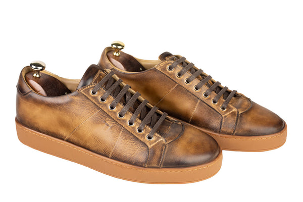 Bosphorus Leather Navagio Sneakers - Patina Brown