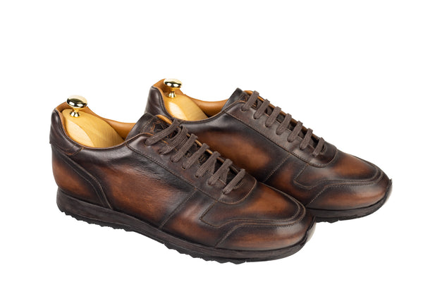 Bosphorus Leather Minorka Sneakers - Patina Brown