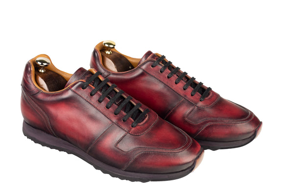 Bosphorus Leather Minorka Sneakers - Patina Red