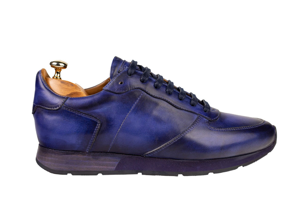 Bosphorus Leather Vancouver Sneaker - Patina Blue
