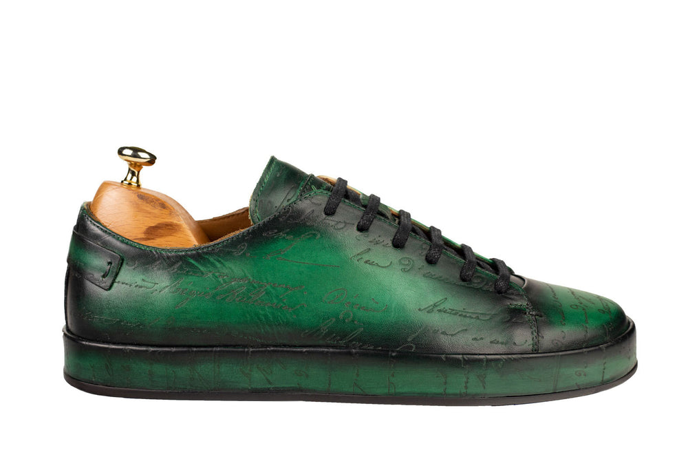 Bosphorus Leather Marrakech Sneaker - Scripto Patina Green