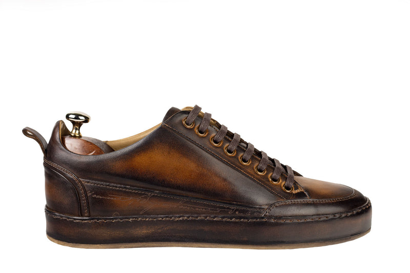 Bosphorus Leather Salda Sneaker - Patina Brown