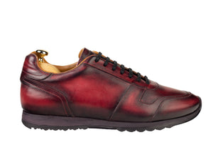 Leather Minorka Sneaker Patina Red