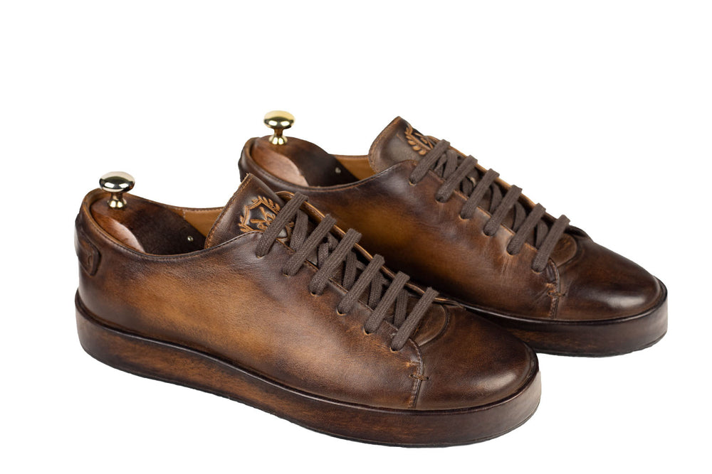 Bosphorus Leather Marrakech Sneaker - Patina Brown