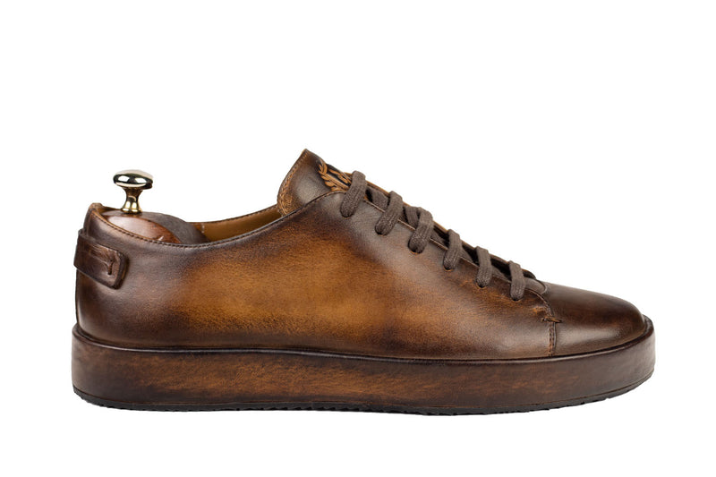 Bosphorus Leather Marrakech Sneakers - Patina Brown