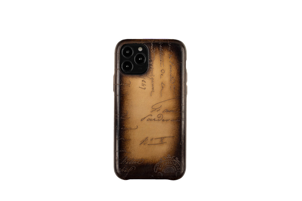 Bosphorus Leather Patina Sand Iphone Case for 11 , 11 Pro and 11 Pro Max
