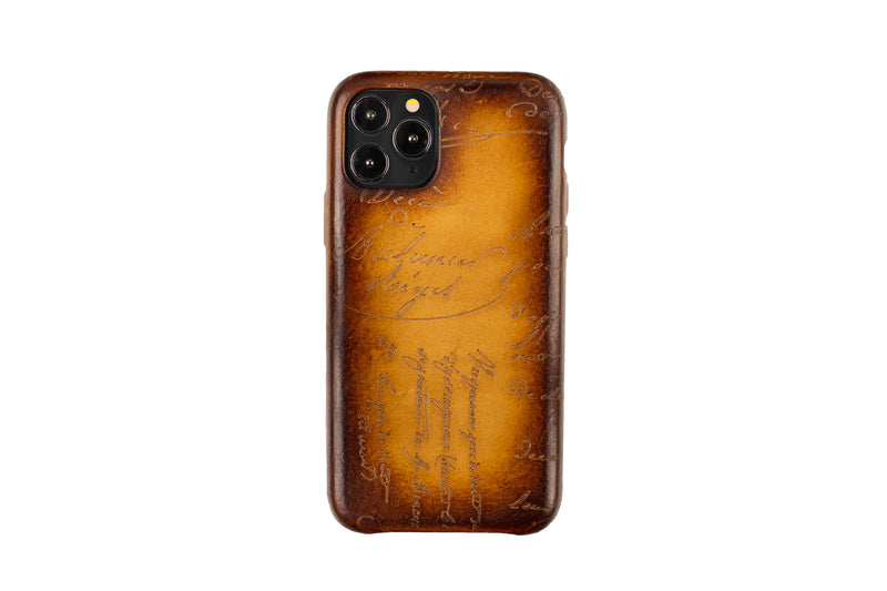 Bosphorus Leather Patina Honey Brown Iphone 11 Case