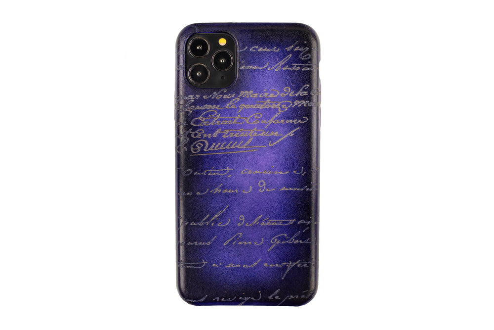 Bosphorus Leather Patina Purple Iphone Case for 11 , 11 Pro and 11 Pro Max