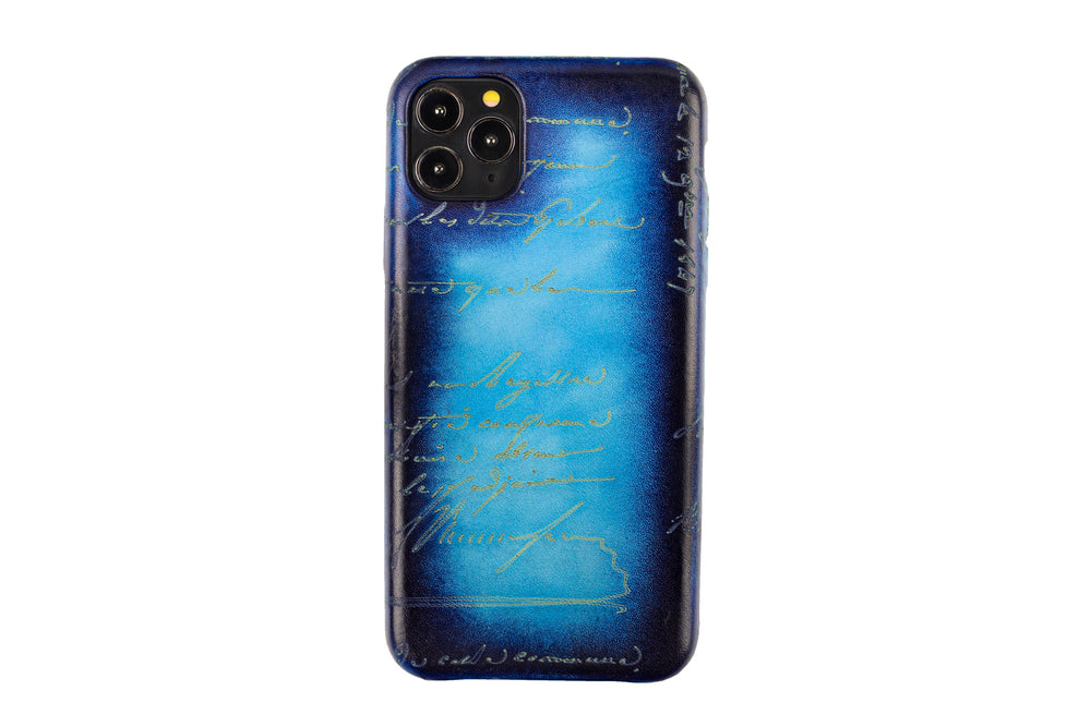 Bosphorus Leather Patina Ocean Iphone Case for 11 , 11 Pro and 11 Pro Max