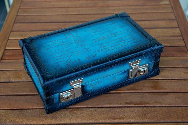 Petra Watch Case for Eight Watches - Scripto Sky Blue - In Stock
