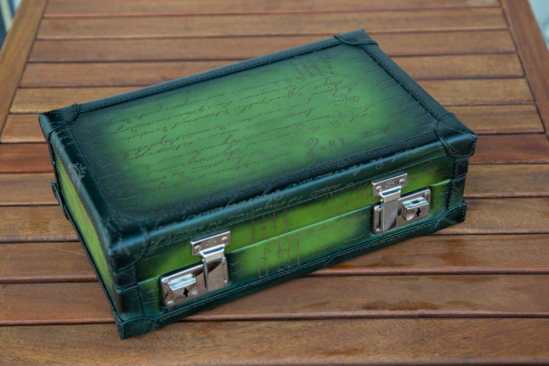 Petra Watch Case for Eight Watches - Scripto Patina Green