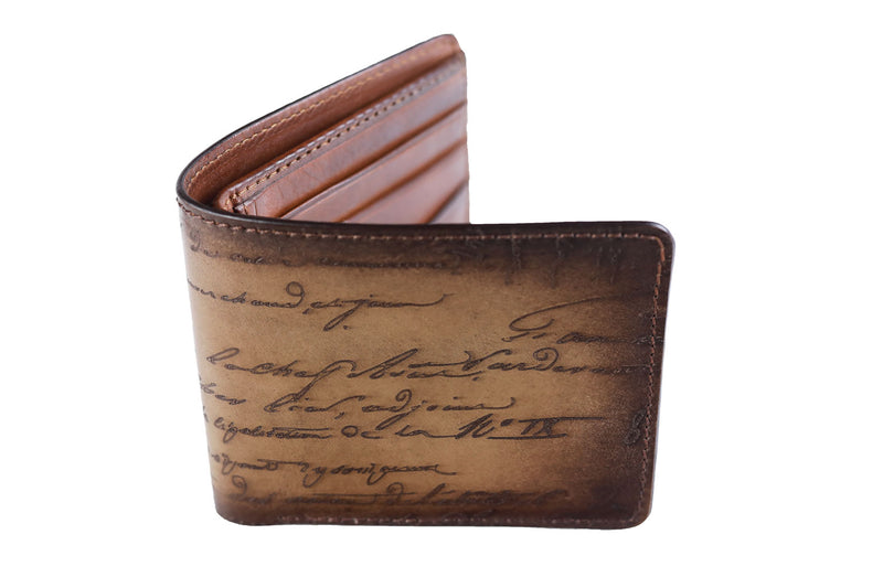 Bosphorus Leather Scripto Patina Sand Wallet Medium