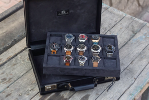 Custom Watch Collector Case - Combination Lock + Metal Corner
