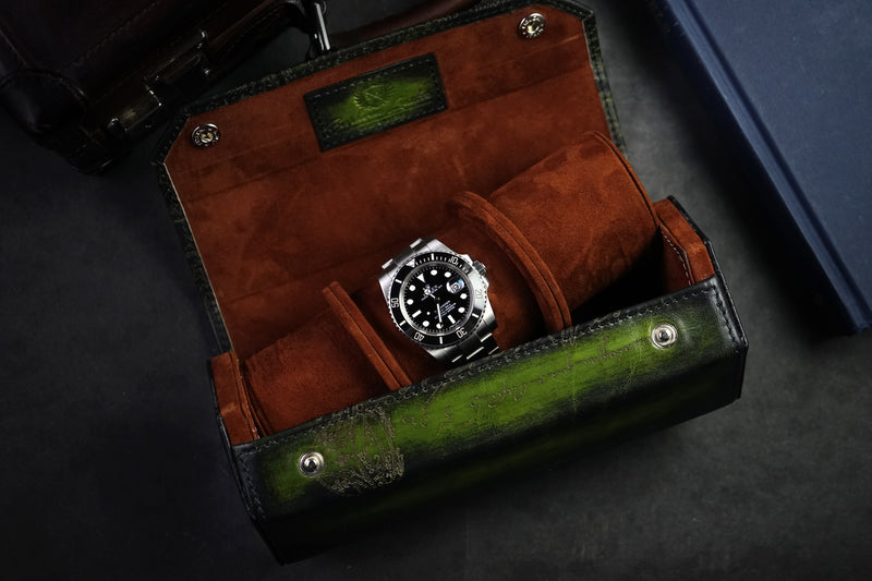 Hexagon Watch Case Scripto Patina Green (2558036050005)
