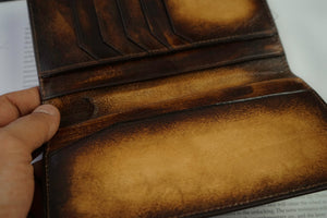 Leather Patina Light Tan Long Wallet
