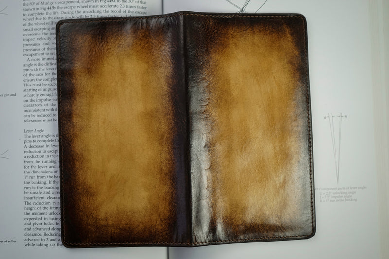 Leather Patina Light Tan Long Wallet (2614818603093)