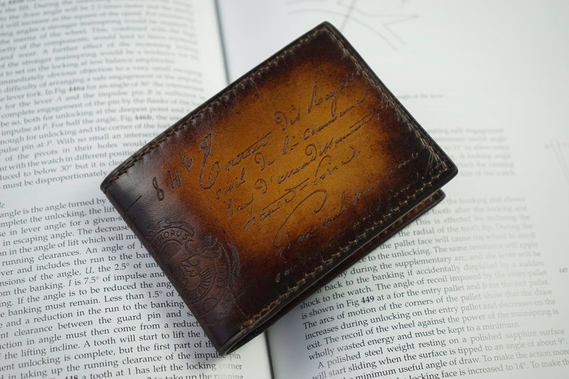 Leather Scripto Patina Light Tan Wallet Small (2614774628437)