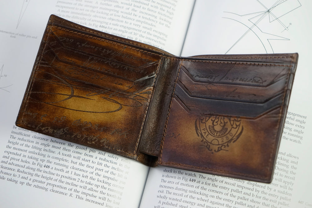 Leather Scripto Patina Golden Tan Wallet Medium