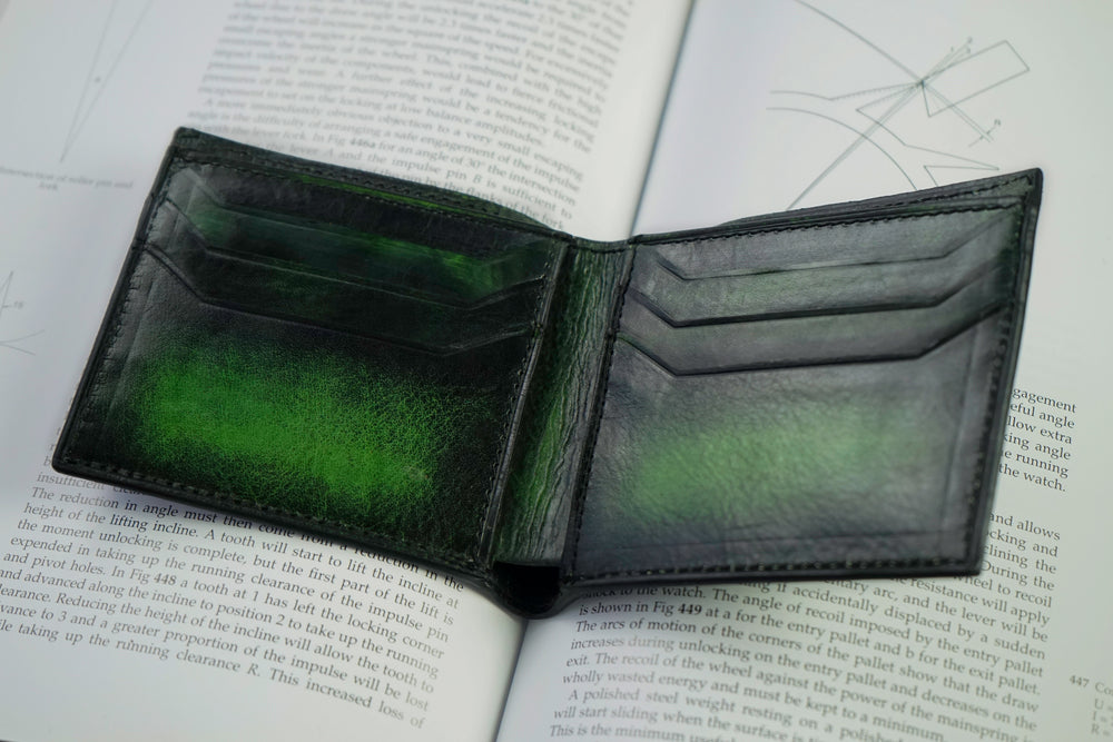 Bosphorus Leather Patina Green Wallet Medium
