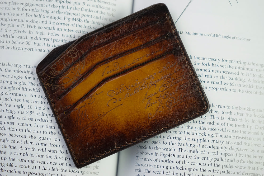 Bosphorus Leather Scripto Light Tan Card Holder