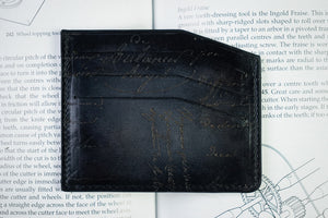 Bosphorus Leather Scripto Patina Grey Card Holder