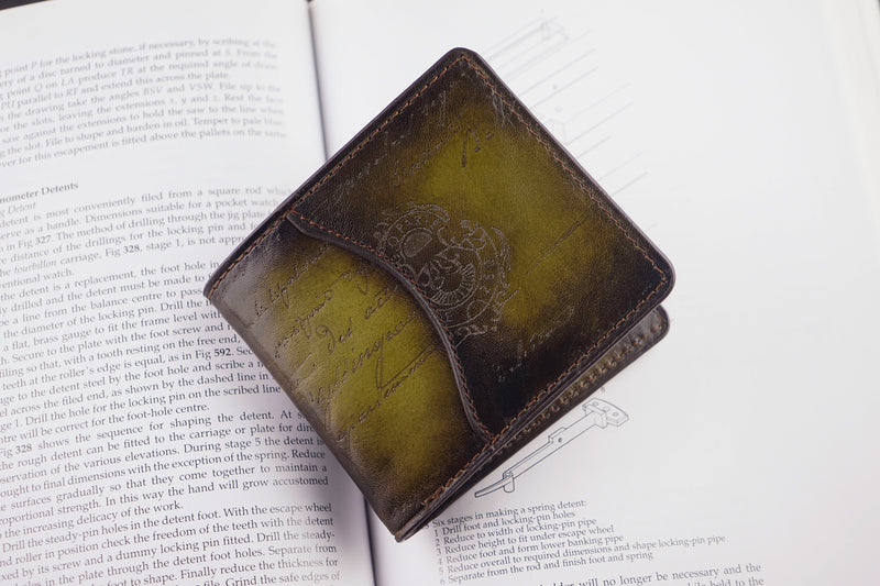 Leather Patina Olive Wallet (2614702964821)