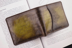 Bosphorus Leather Patina Olive Wallet