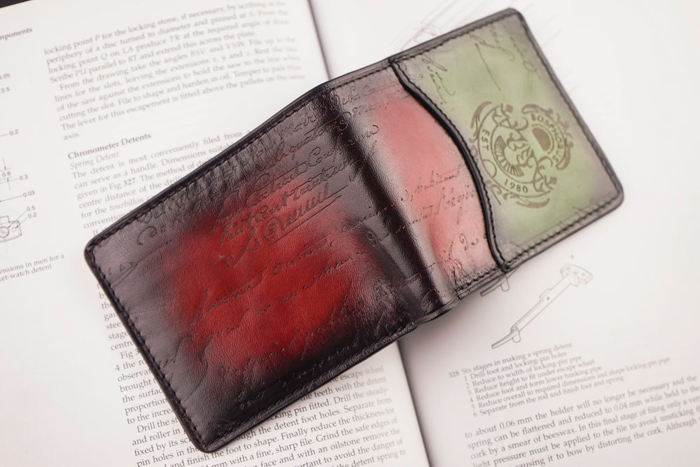 Bosphorus Leather Patina Red-Green Wallet