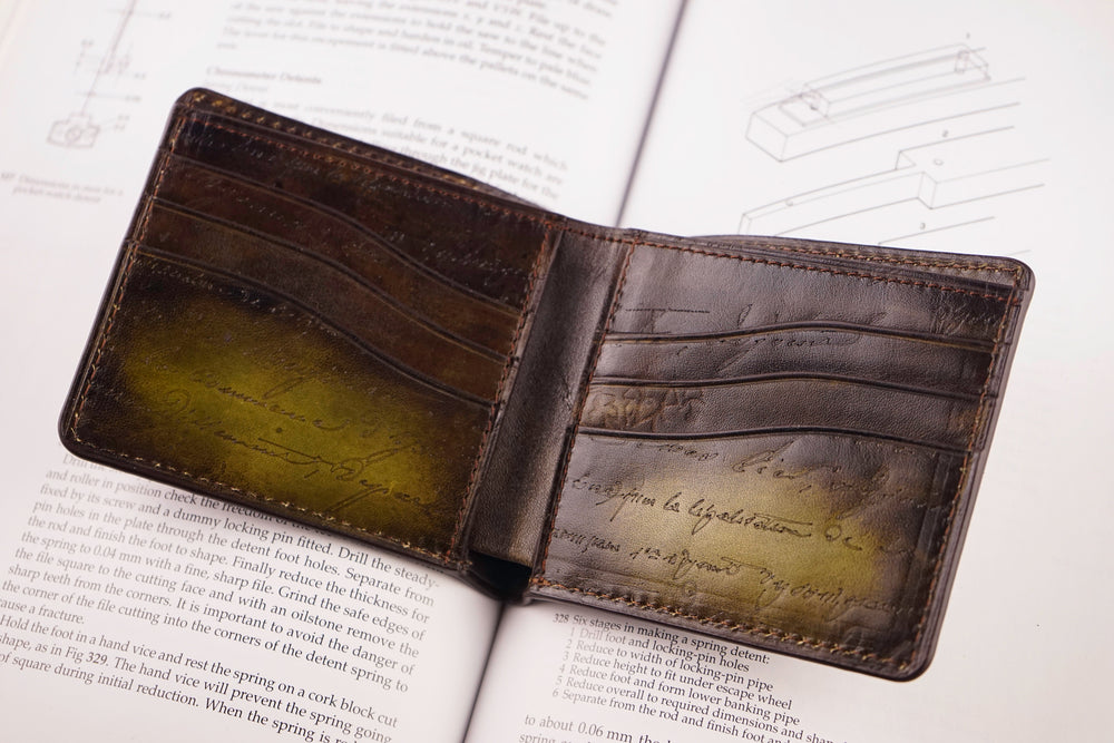 Leather Patina Olive Wallet